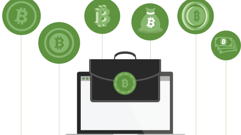 bitcoin symbols on transparent background