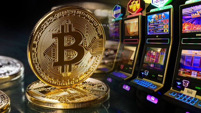 phisical bitcoin near slots machines