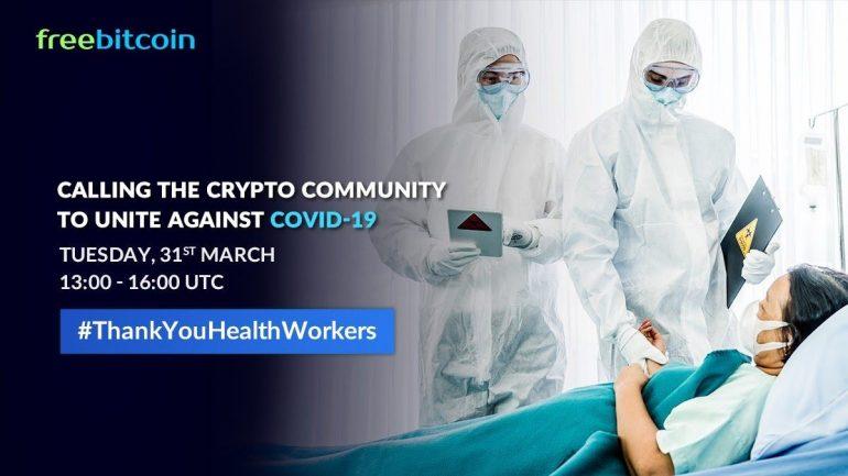 FreeBitcoin donation for covid
