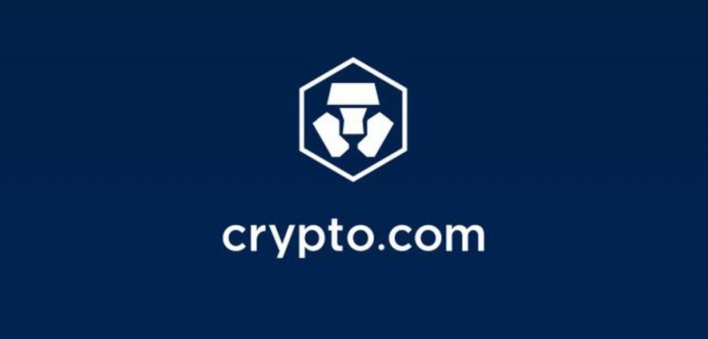Crypto.com Logo with blue bakcground