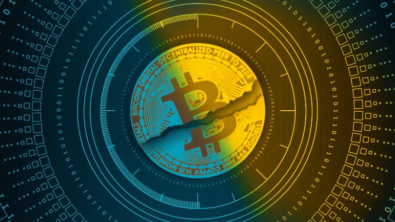 bitcoin craked in half