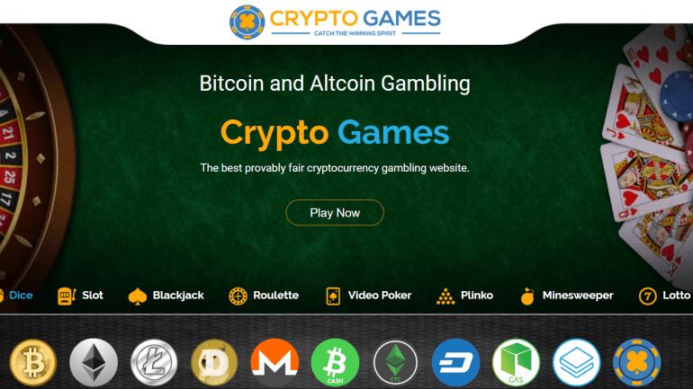 Crypto Games interface