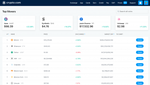 Crypto.com Prices Interface