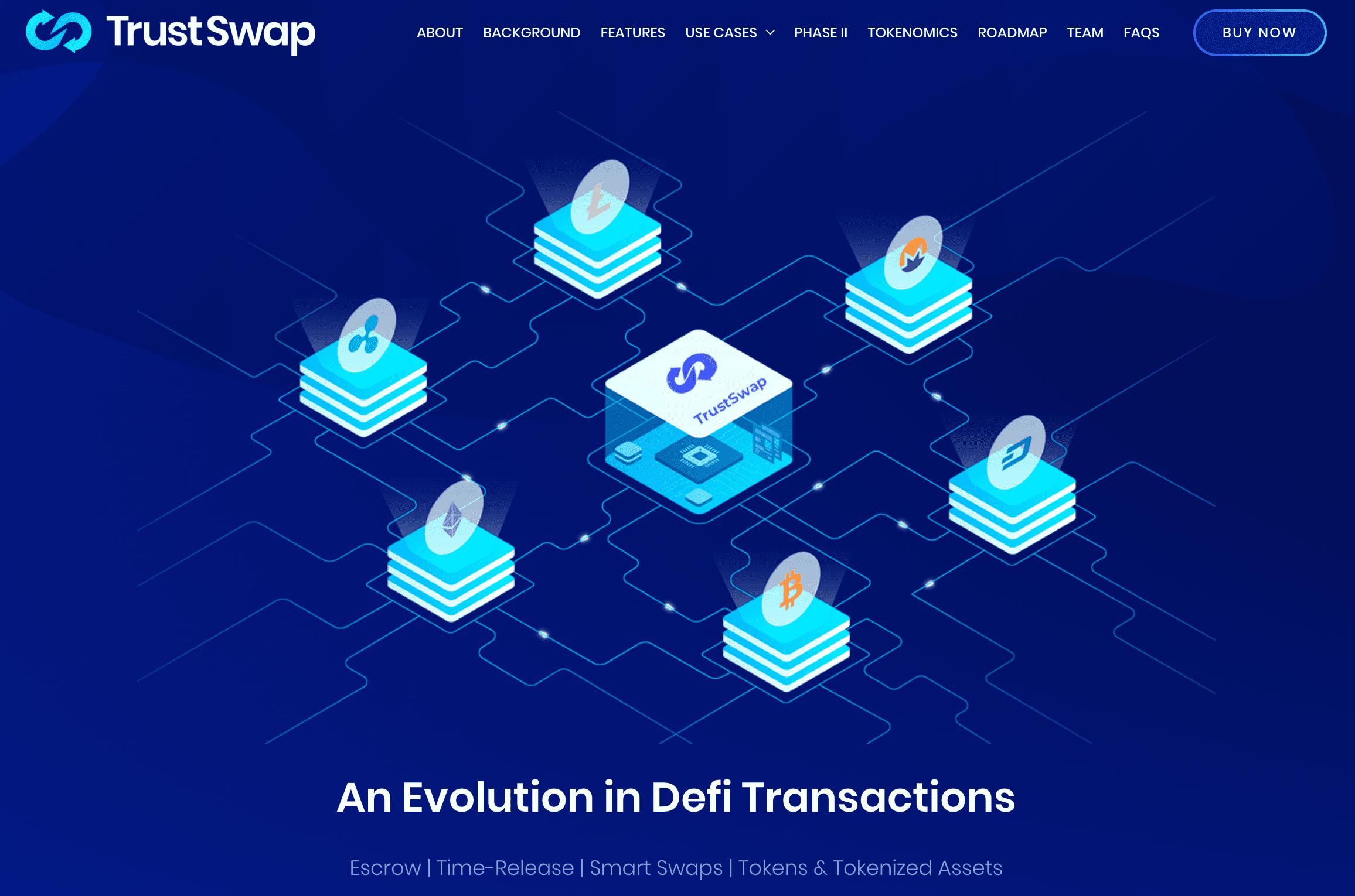 trustswap defi transactions