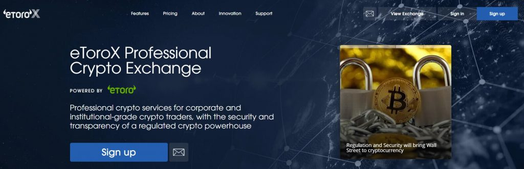 eToroX Cryptocurrency Exchange