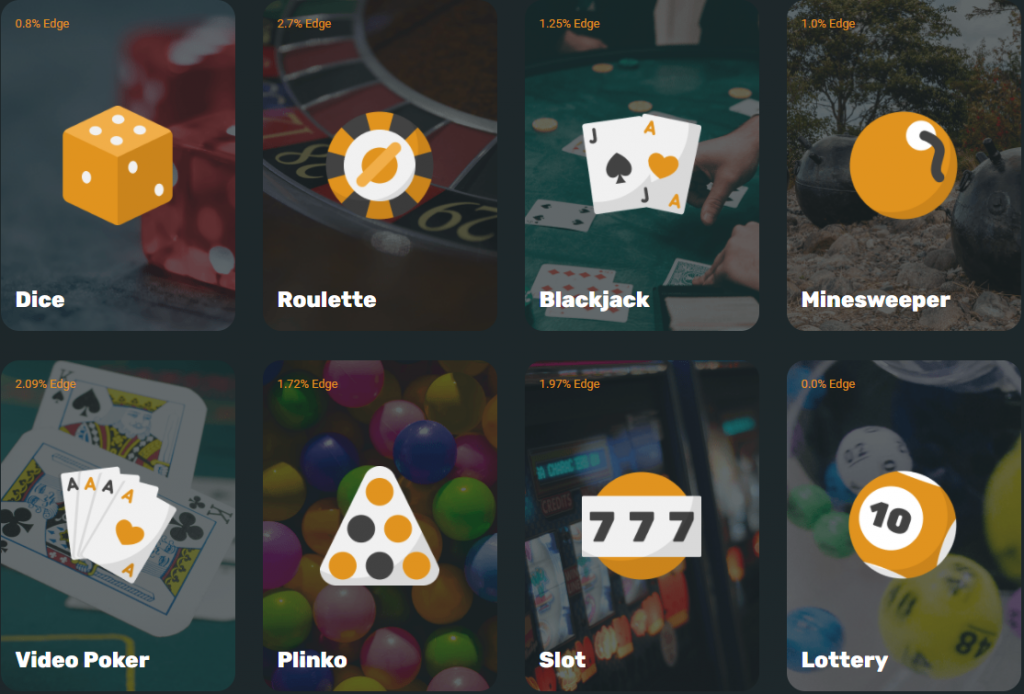 Casino Games in CryptoGames