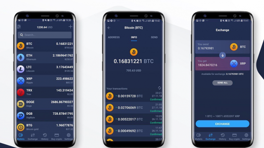 Atomic wallet for Android