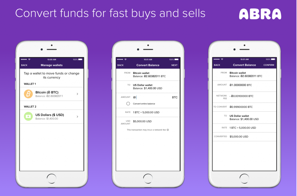 Abra, one of the best Bitcoin wallets for Android