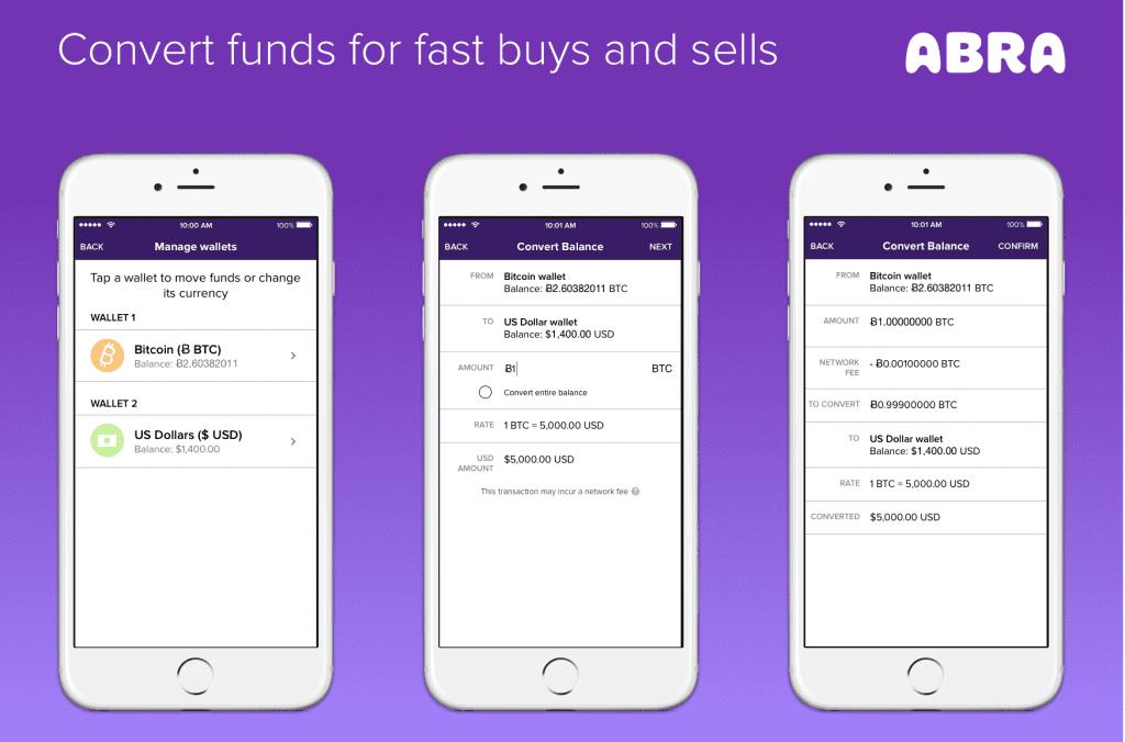 Abra, en av de bästa Bitcoin-plånböckerna för Android