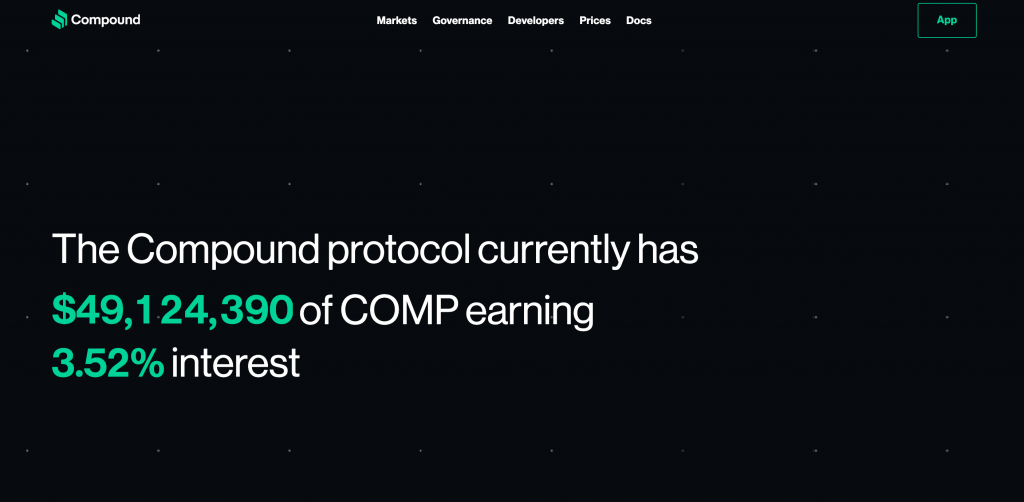 Compound Finance protocol official website