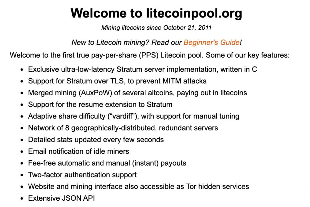 Litecoinpool Litecoin Mining Pool