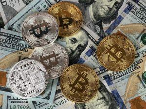 Bitcoin och dollar