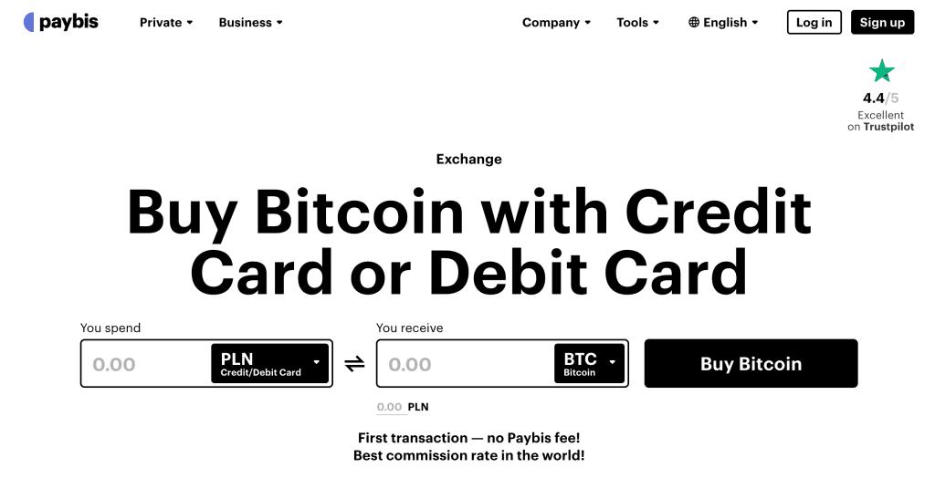 Paybis är en av plattformarna för att köpa Ethereum med betalkort